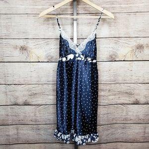 Apt. 9 Polka Dot & Floral Slip Nightgown NWT